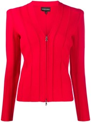 Emporio Armani Ribbed Fitted Jacket 60