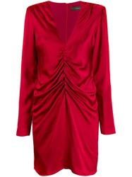 Federica Tosi Draped Mini Dress Red