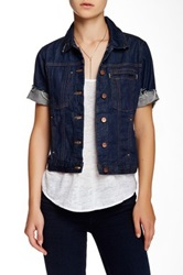 Genetic Denim Blondie Short Sleeved Jacket Blue