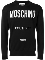 Moschino Logo Knitted Jumper Black