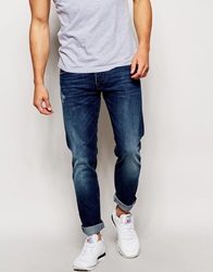 Voi Jeans Tapered Fit Jean Mid Wash Blue