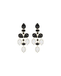 Kendra Scott Pacey Two Tone Chandelier Earrings Black White