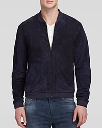 Scotch And Soda Slim Fit Suede Bomber Jacket