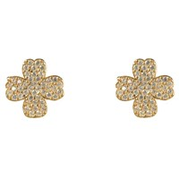 Latelita London Lucky Four Leaf Clover Earring Gold