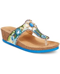 Rialto Bethany Beaded Wedge Sandals Women's Shoes