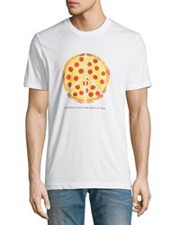 Wesc Max Peace Pizza Graphic T Shirt White1