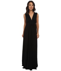 Rachel Pally Long Sleeveless Caftan Black 2 Women's Dress