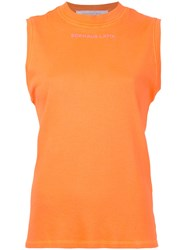 Eckhaus Latta Muscle Tank Top Women Cotton S Yellow Orange