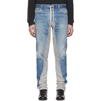 Greg Lauren Blue 50 50 Denim Terry Royal Jeans