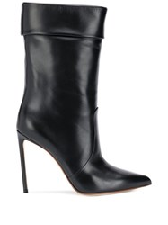 Francesco Russo Pointed Stiletto Boots Black