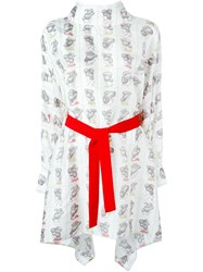 Olympia Le Tan Kimono Day Dress White