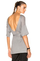Soyer Low Back Tunic Top In Gray