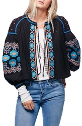 Free People Women's Embroidered Linen And Cotton Jacket