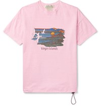 Remi Relief Printed Cotton Jersey T Shirt Pink