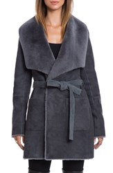 Bagatelle Women's Genuine Shearling Wrap Coat