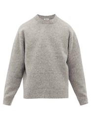 Acne Studios Kael Crew Neck Wool Blend Sweater Grey
