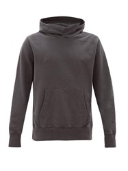 Ksubi Seeing Lines Cotton Hooded Sweatshirt Black