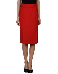 Albino 3 4 Length Skirts Red