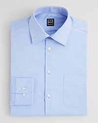 Ike Behar Diagonal Twill Dress Shirt Classic Fit Empire Blue