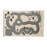 Bloomingville Children's Road Map Cotton Rug