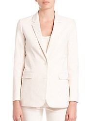 Helmut Lang Cotton Canvas Blazer Ivory