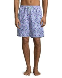 Peter Millar Shelly Turtle Swim Trunks Pink