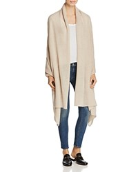 Bloomingdale's C By Cashmere Wrap 100 Exclusive Heather Oatmeal
