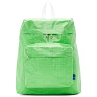 Comme Des Garcons Shirt Green Poly Small Backpack