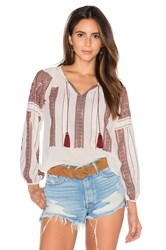 Loveshackfancy Lou Peasant Blouse White