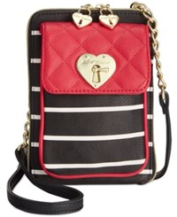 Betsey Johnson Swag North South Crossbody Red