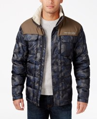 Free Country Men's Camo Puffer Down Jacket Green