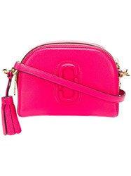 Marc Jacobs Double J Shutter Bag Pink And Purple