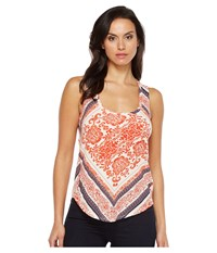 Lucky Brand Painted Tank Top Red Multi Women's Sleeveless