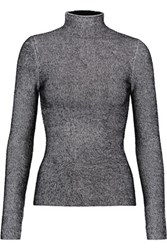 Alexander Wang T By Ribbed Knit Turtleneck Sweater Black