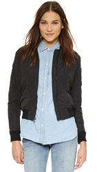 James Perse Military Bomber Jacket Black
