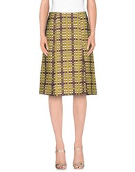 Laura Urbinati Skirts Knee Length Skirts Women Acid Green