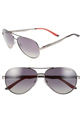 Carrera 59Mm Metal Aviator Sunglasses Ruthenium Grey Gradient