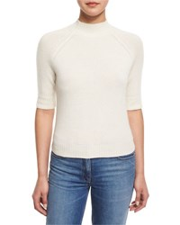 Theory Jodi B Cashmere Mock Neck Sweater Ivory