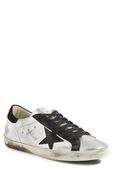 Golden Goose Men's 'Superstar' Sneaker Metallic Silver Leather