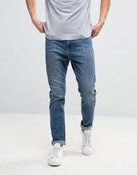 Kiomi Tapered Jeans In Dark Blue Wash Dark Wash Blue