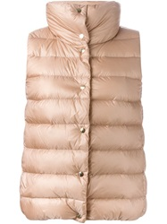 Moncler Classic Padded Gilet Pink And Purple