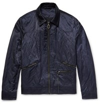 Lanvin Cotton Blend Satin Jacket Navy