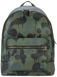 Coach Wild Beast Print League Backpack Green