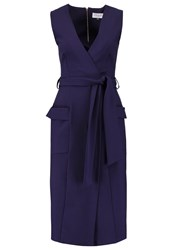 Closet Jersey Dress Navy Dark Blue