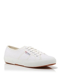 Superga Lace Up Sneakers Crochet