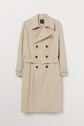 Handm H M Cotton Trenchcoat Beige