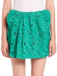 N 21 Giorgina Embroidered Mini Skirt Esmeraldo