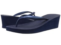 Havaianas High Fashion Flip Flops Navy Blue Women's Sandals
