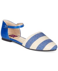 Mojo Moxy Capri Two Piece Flats Women's Shoes Cobalt Stripe