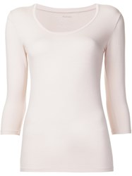 Majestic Filatures Scoop Neck T Shirt Pink And Purple